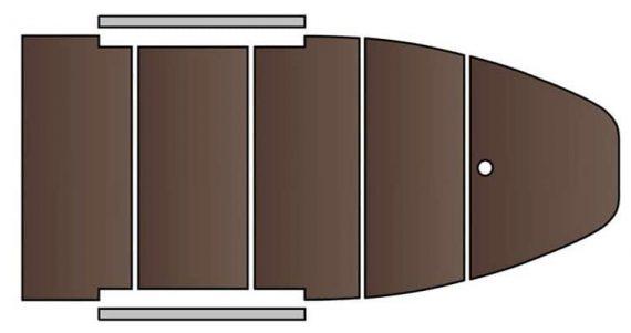 КМ-300 D šedo modrý, podl. preglejka