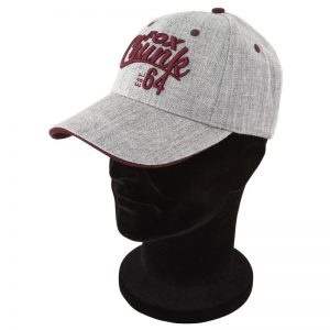 Šiltovka FOX Chunk Grey/Burgundy Twill Baseball Cap
