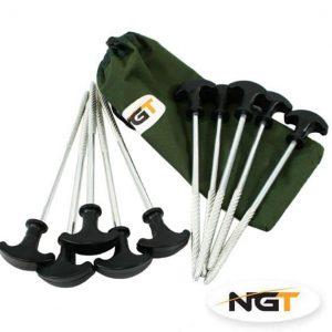 NGT sada zavrtávacích kolíkov na bivak 10 ks