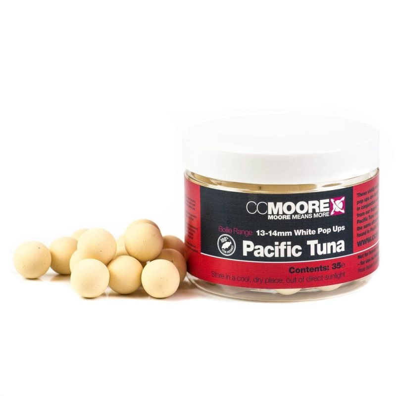 90129 2 - CC Moore Pacific Tuna - Plavajúce boilie biele 13/14mm 35ks