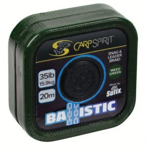 BALLISTIC BRAIDED LEADER CAMO GREEN 20M 25LB