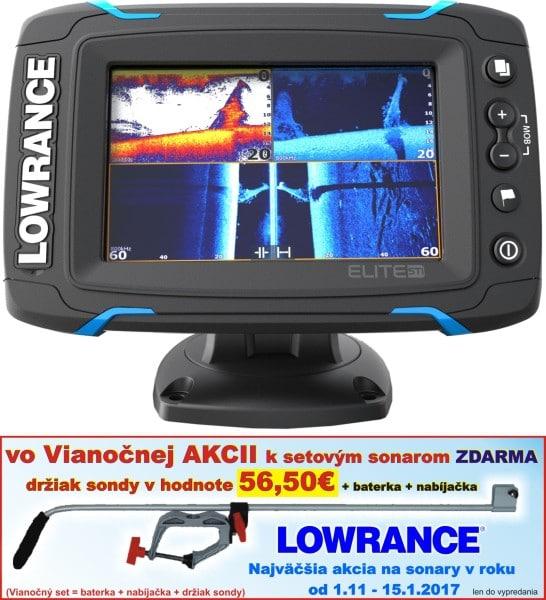 Dotykový sonar Elite-5Ti so sondou TotalScan