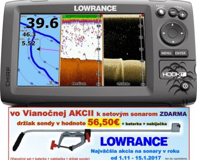 Sonar s GPS Hook-7 Chirp so sondou