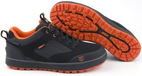 Fox Black & Orange Trainers
