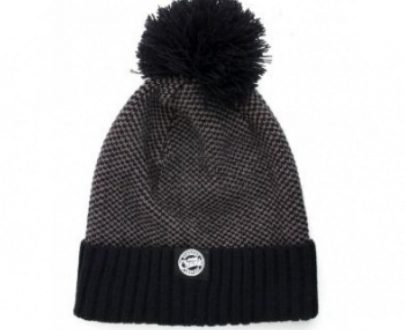 Fox Chunk Grey/Black Bobble Hat