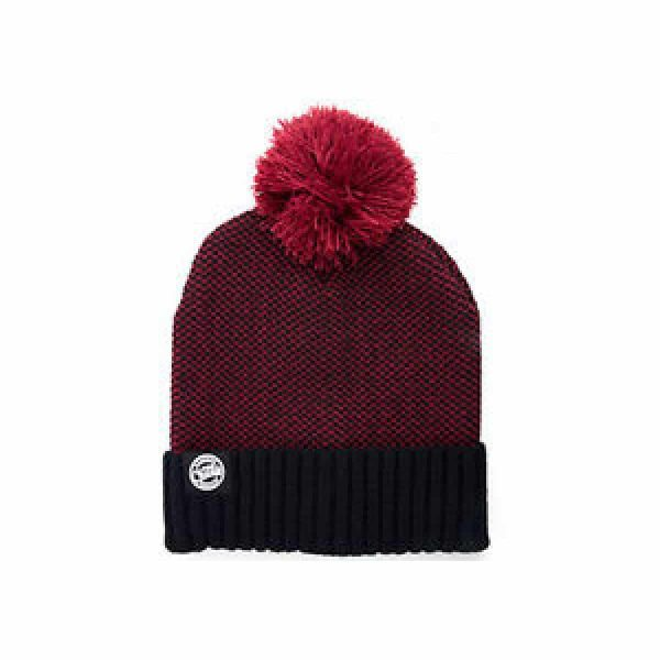 Fox Chunk Burgundy/Black Bobble Hat