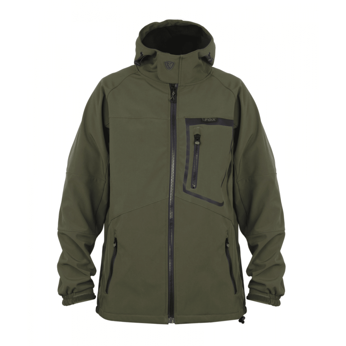 9003668 - Fox Green & Black Softshell Jacket