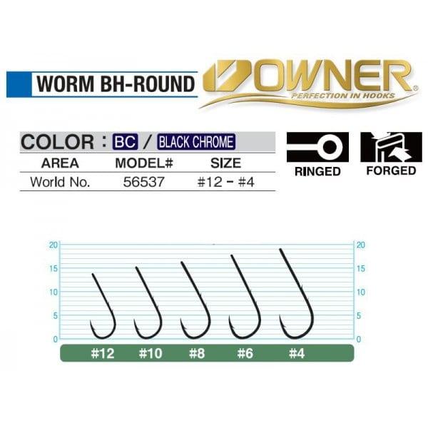 hacik owner 56537 worm bh round - HÁČIK OWNER 56537 WORM-BH ROUND