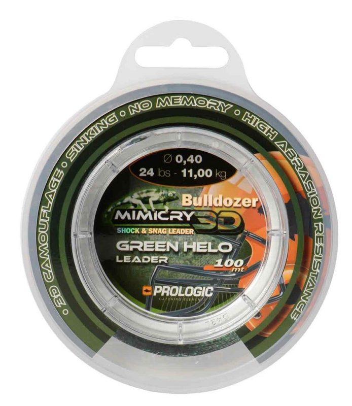 img5a1ff8a928cf9 - Prologic Šokový Vlasec Mimicry Green Helo Leader 100 m