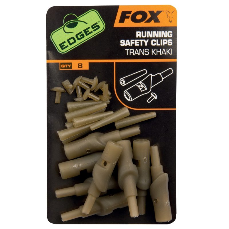 edges running safety clips trans khaki - Fox Edges Running Safety Clips Trans Khaki