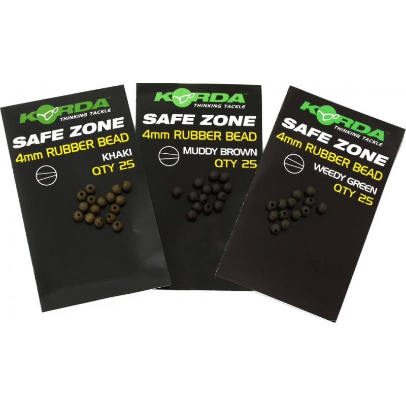 korda safe zone 4mm rubber beads - Korda gumové korálky Safe Zone Rubber Beads 4mm