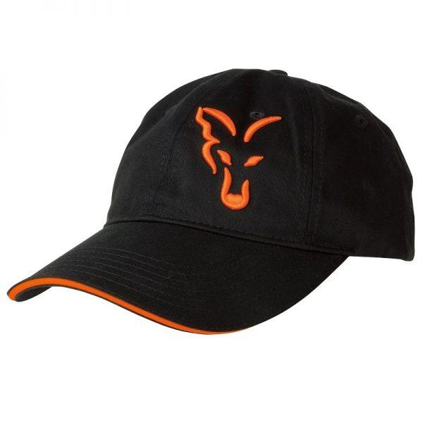 vyr 4185crp925 V 600x600 - FOX Šiltovka Black/Orange Baseball Cap
