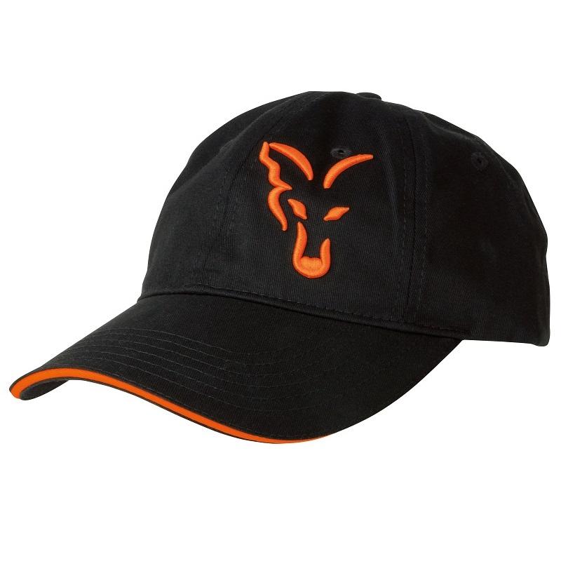 vyr 4185crp925 V - FOX Šiltovka Black/Orange Baseball Cap