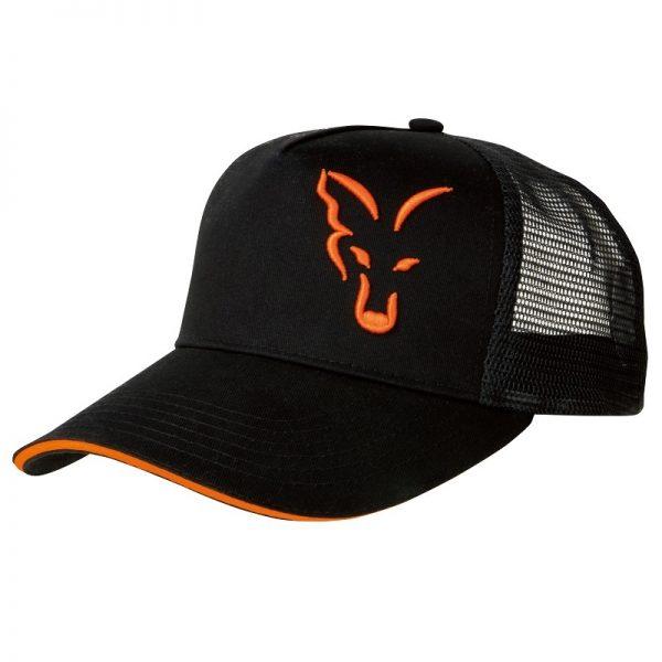 vyr 4186crp924 V 600x600 - FOX Šiltovka Black/Orange Trucker Cap