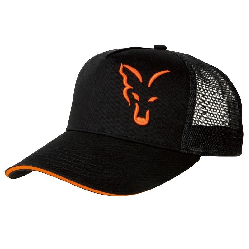 vyr 4186crp924 V - FOX Šiltovka Black/Orange Trucker Cap
