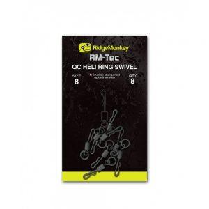 148f086c5f5b9c706d9fd85d9f6f4019 300x300 - RidgeMonkey Rýchlovýmenný obratlík s krúžkom Quick Change Heli Ring Swivel