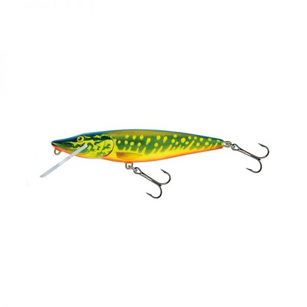 salmo wobler perch floating holographic grey shiner 1 6 600x600 - Salmo Wobler Pike Hot Pike 11cm 15g plávajúci