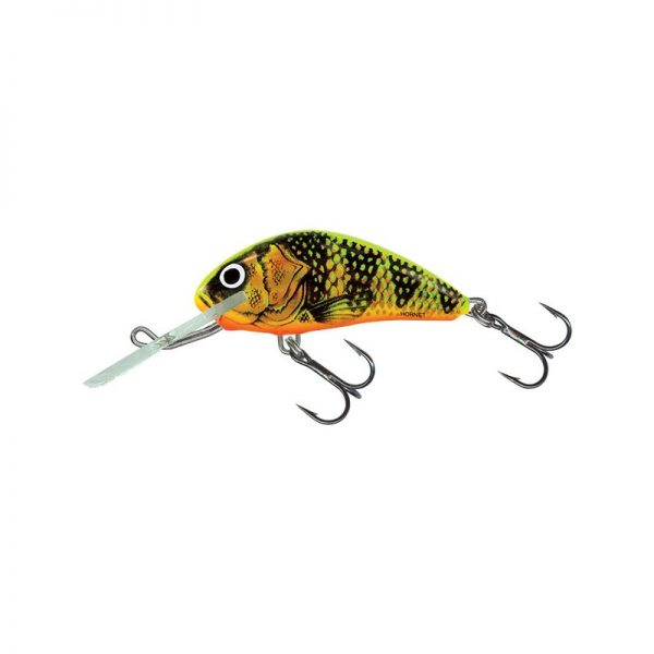 salmo wobler hornet floating gold fluo perch 1 600x600 - Salmo Wobler Hornet Sinking Gold Fluo Perch 6cm 14g potápavý