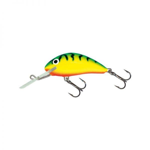 salmo wobler hornet floating green tiger 1 600x600 - Salmo Wobler Hornet Sinking Green Tiger 6cm 14g potápavý